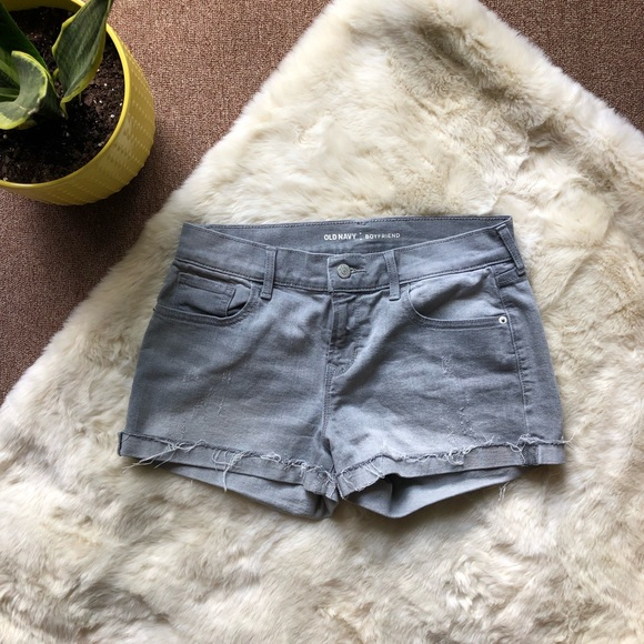 Old Navy Pants - Old Navy Gray Boyfriend Shorts